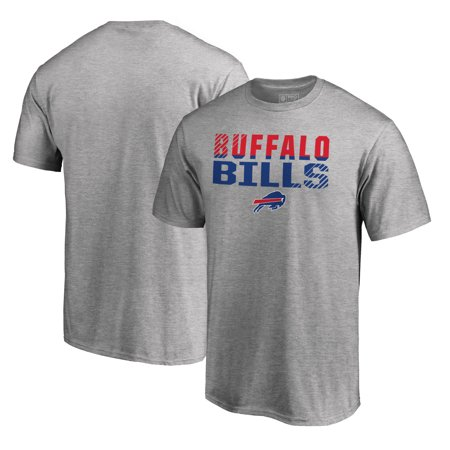 Buffalo Bills NFL Pro Line by Fanatics Branded Iconic Collection Fade Out Big and Tall T-Shirt - Ash 2002 Buffalo Bills