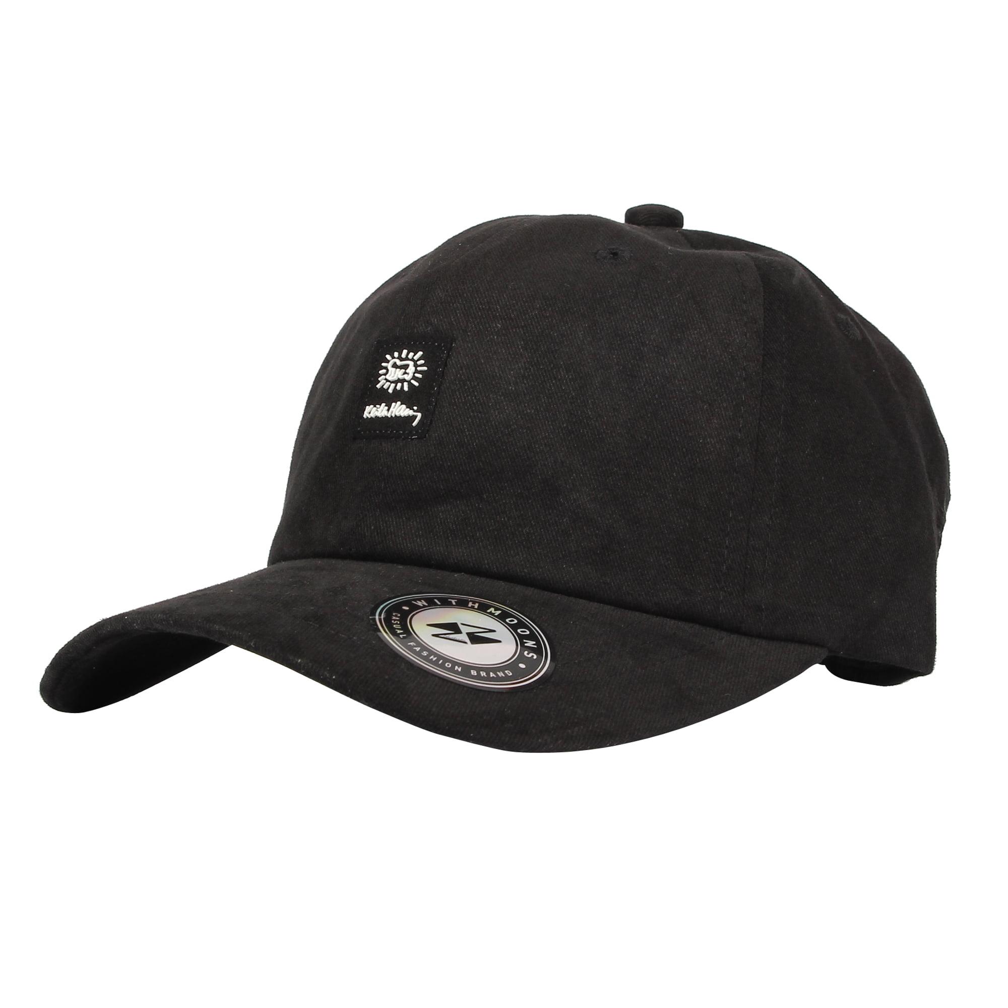 WITHMOONS Baseball Cap Simple Keith Haring Man Patch Hat CR11091 (Black)CR11091Black  - Walmart.com 7b43af97f96
