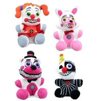 "4PC Set: 6.5"" Five Nights at Freddy's Sister Location Plush - Authentic FNAF"