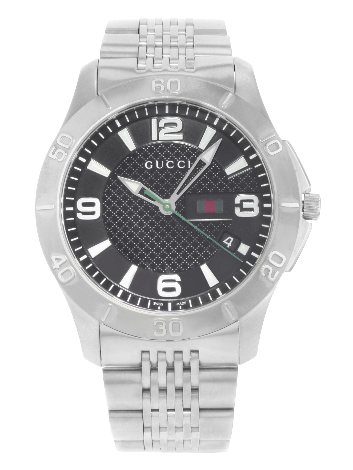 Gucci G-Timeless YA126218 Stainless Steel Quartz Men's Watch (Pre-owned) No Box Papers