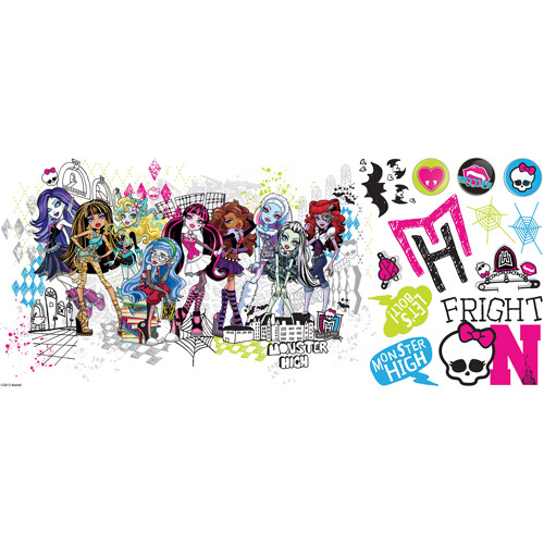 Monster High Group Peel-and-Stick Giant Wall Decals