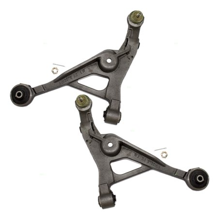 BROCK Lower Control Arm w/ Ball Joint & Bushings Set Pair Front Replacement for Chrysler Cirrus Sebring Dodge Stratus Plymouth Breeze 4616923 4616922