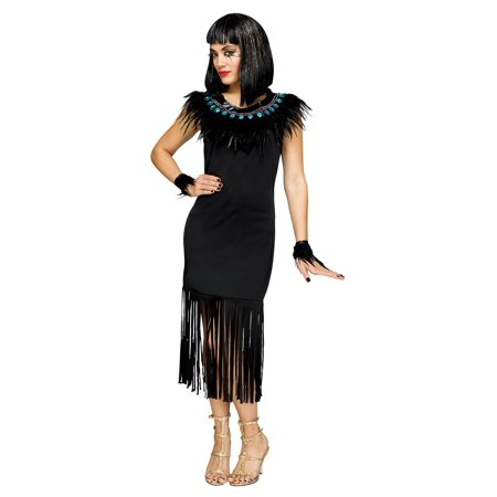Womens Black Feather Cuffs and Collar Cleopatra Eqyptian Costume Accessory - Cleopatra Collar