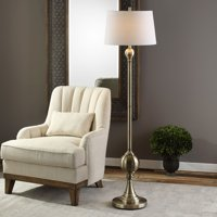 Uttermost Abriola Antiqued Brass Floor Lamp