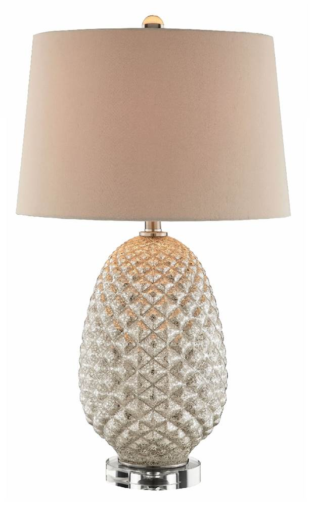 Superb Mercury Glass Table Lamp