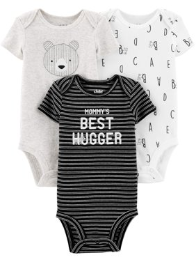 d2c066252 Product Image Child Of Mine By Carter's Short Sleeve Bodysuits, 3pk (Baby  Boys)