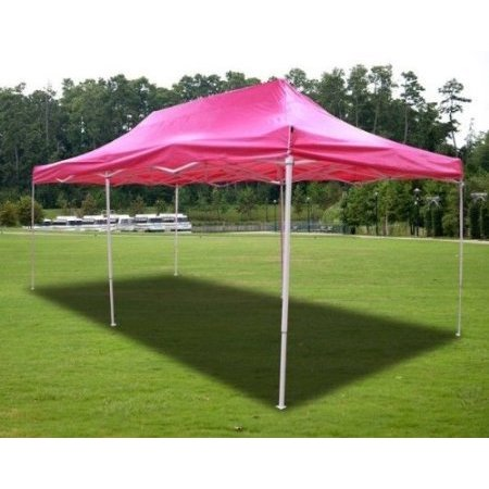 New MTN-G Pink Deluxe EZ up Canopy Pop Up Tent 20' X 10