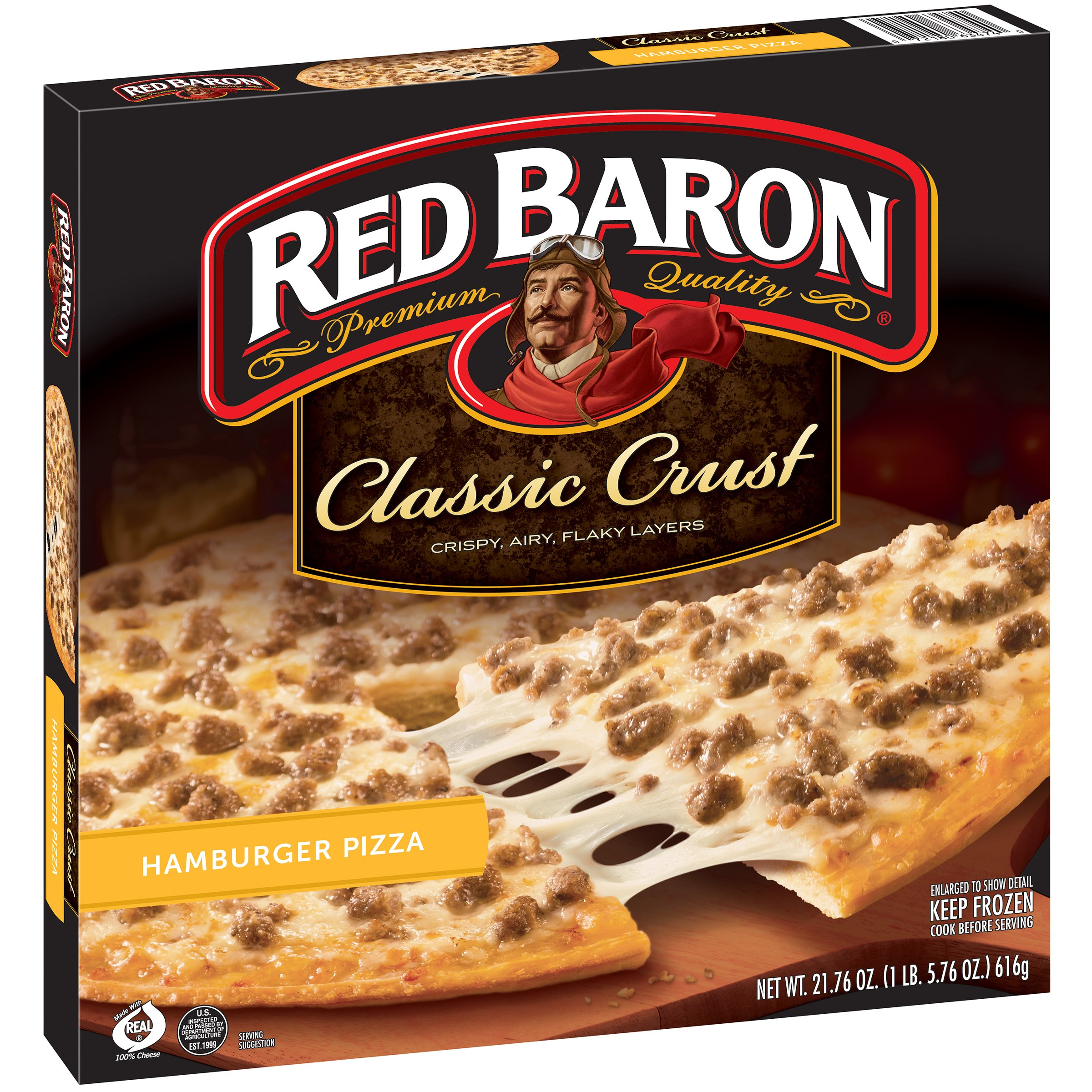 Red Baron® Classic Crust Hamburger Pizza 21.76 oz. Box