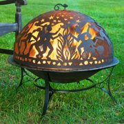 Good Directions Fire Pit with Full Moon Party FireDome Spark Screen - 30""