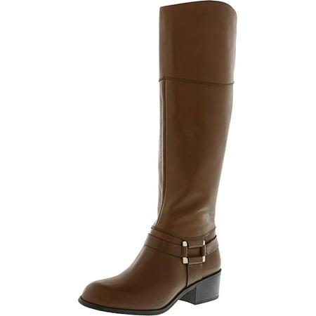 Alfani Women S Biliee Cognac Knee High Leather Equestrian