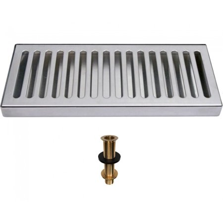 Stainless Steel Surface Mount Drip Tray with Drain- 12x5 Mount Drip Tray