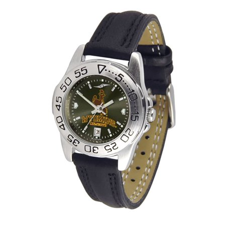 Wyoming Cowboys NCAA AnoChrome Sport Ladies Watch (Leather Band)