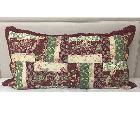 Jcpenney Home Collection Lenny Quilted Floral Pillow Cover Sham King 21 X37 Walmart Com Walmart Com