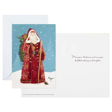 (12 Cards and 13 Envelopes) Hallmark UNICEF Christmas Boxed Cards, Classic St. Nick ()