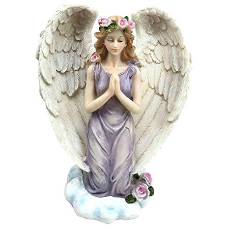 Baptism Angel Figurine - Inspirational Decor Praying Angel On Her Knees Figurine Power Of Prayer Faith and Hope Gift For Baptism Birthday Religious Confirmation