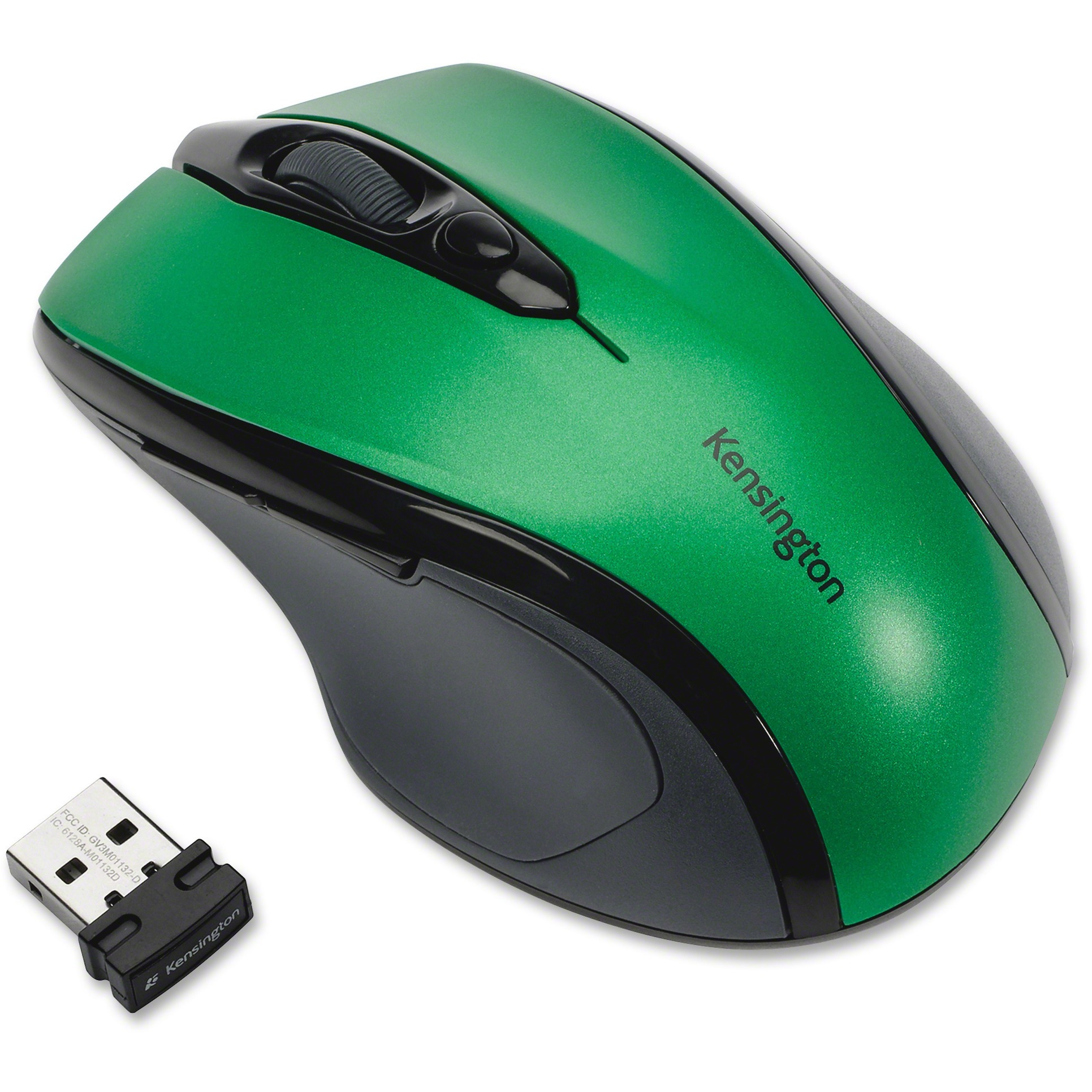 Kensington, KMW72424, Pro Fit Mid-size Wireless Mouse, 1, Emerald Green