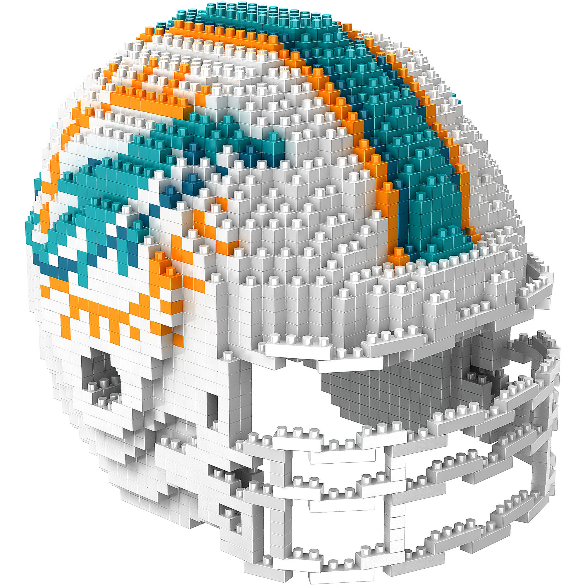 Forever Collectibles 3D BRXLZ Mini Helmet, Miami Dolphins