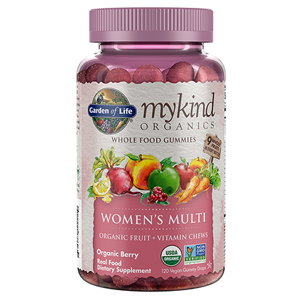 Garden of Life Mykind Organics Women's Gummy Multi - Berry 120 Organic Fruit Chews