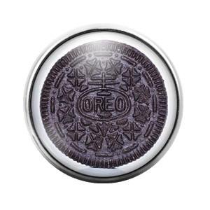 Oreo Cookie - 18MM Glass Dome Candy Snap Charm GD0201 - Candy Charm