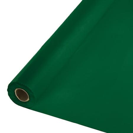250' Hunter Green Royal Magic Decorative Disposable Banquet Table -