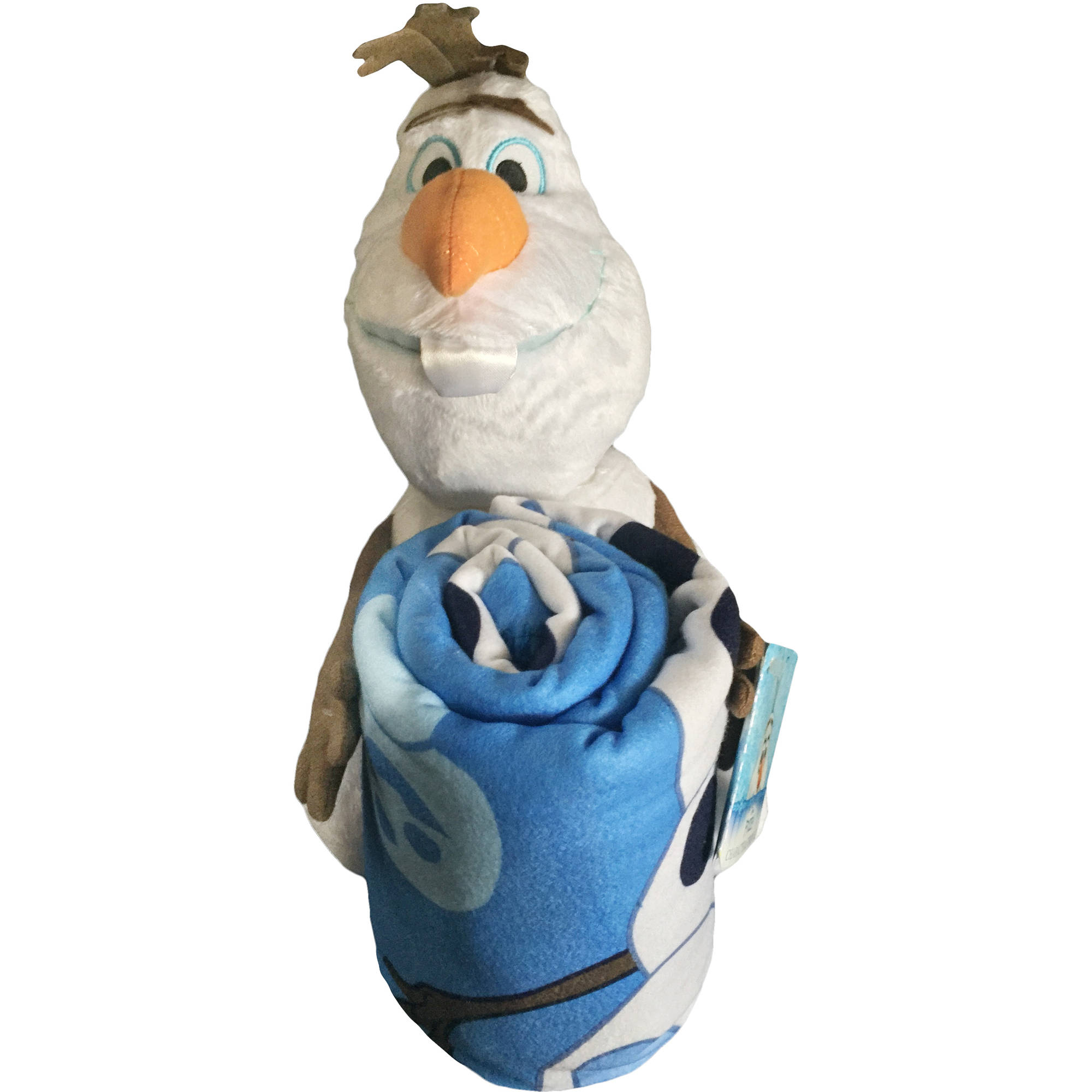 "Disney's Frozen 'Northern Love' 13"" Hugger Character-Shaped Pillow and 40"" x 50"" Fleece Throw Set"