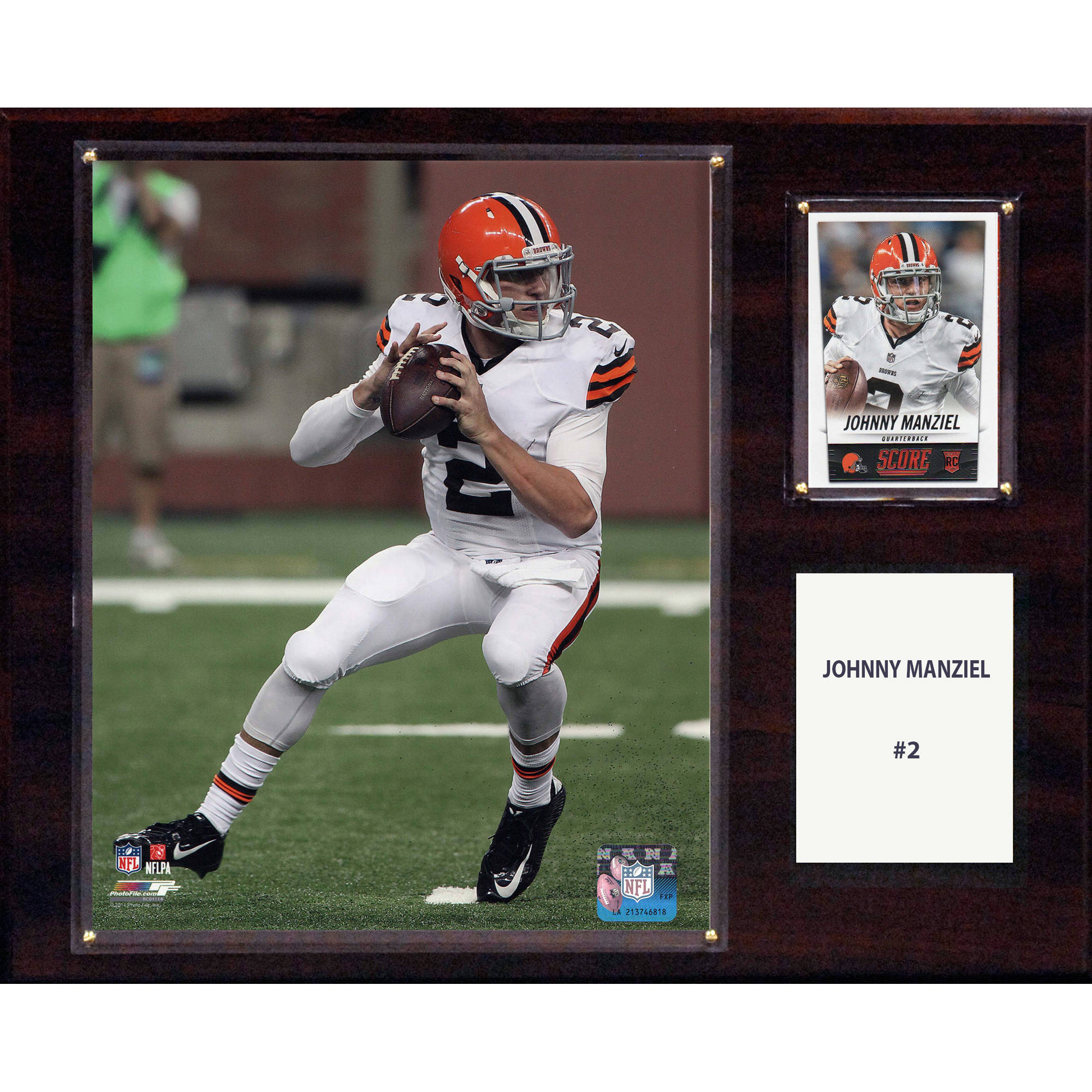 C&I Collectables NFL 12x15 Johnny Manziel Cleveland Browns Player Plaque