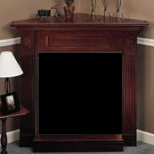 """24"""" Corner Surround with Hearth in Unfinished Oak"""
