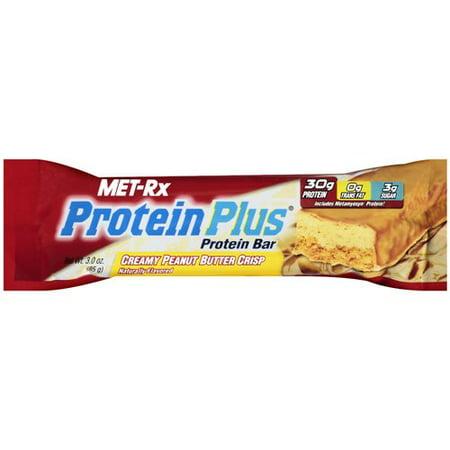 MET-Rx Protein Plus Creamy Peanut Butter Crisp Protein Bar, 3.0 OZ
