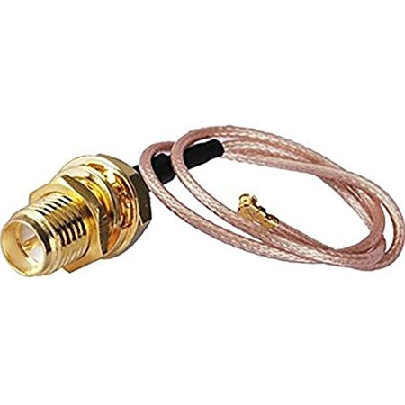 Rf Pigtail Cable Rp Sma Female Connector To U Fl   Ipex For Mini Pci Rg178 30Cm  Pack Of 2  High Quality Ships From Usa