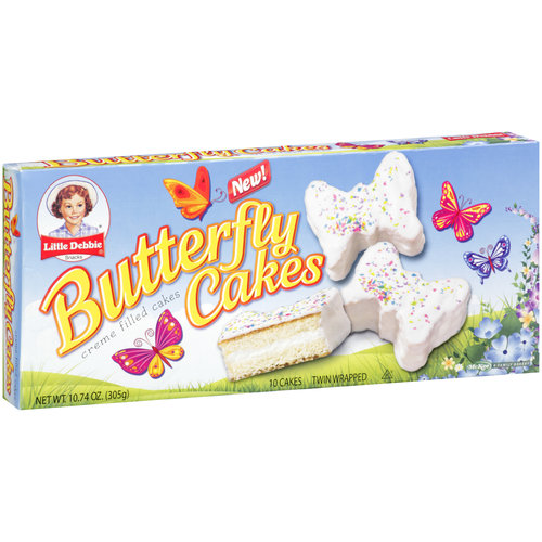 Little Debbie Snacks Butterfly Creme Filled Cakes, 10 ct