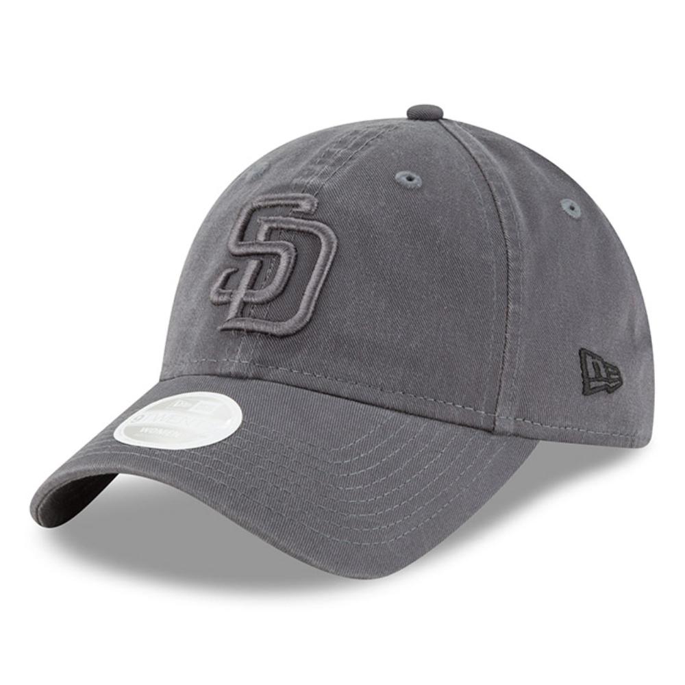San Diego Padres New Era Women's Tonal Core Classic 9TWENTY Adjustable Hat - Graphite - OSFA