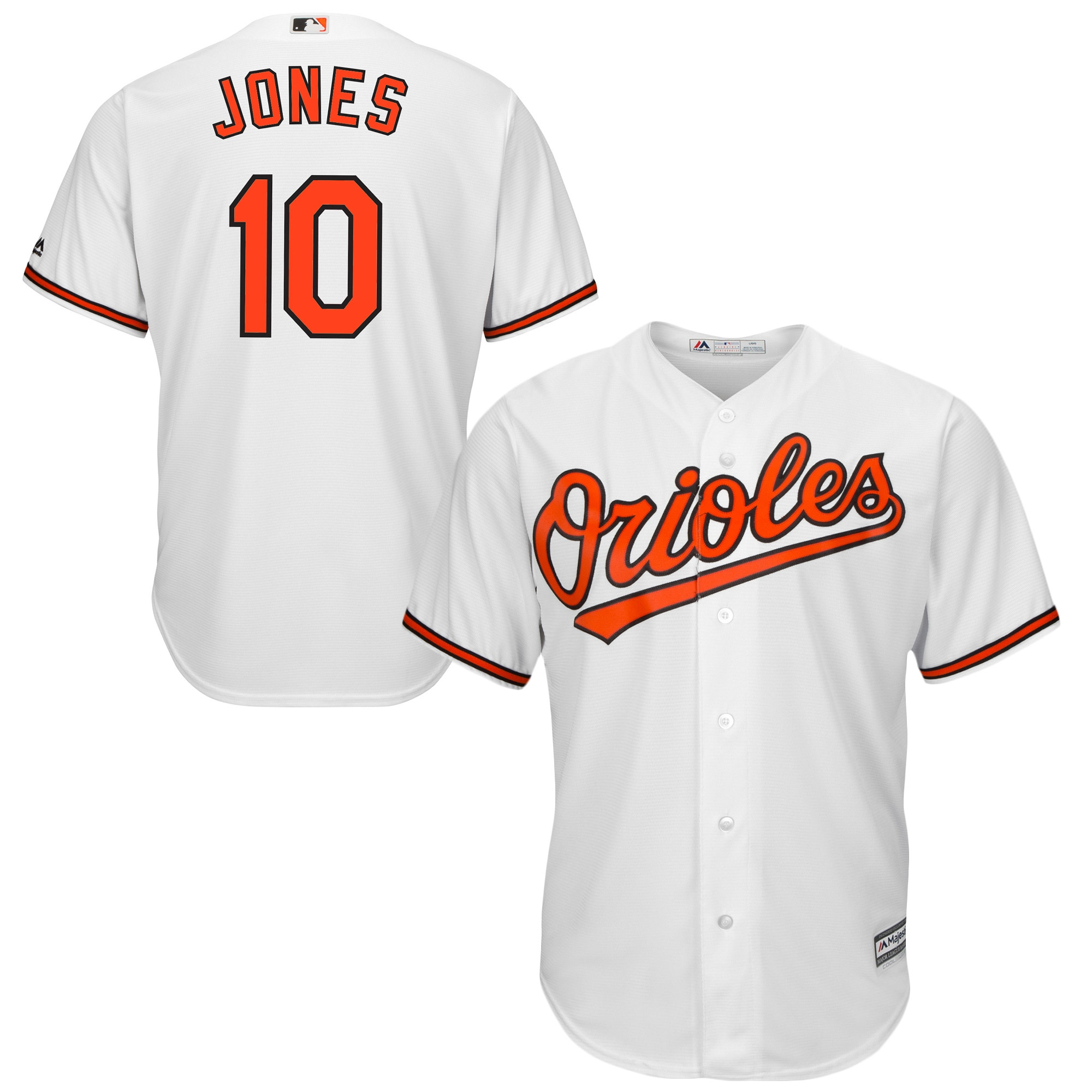 Adam Jones Baltimore Orioles Majestic Official Cool Base Player Jersey - White