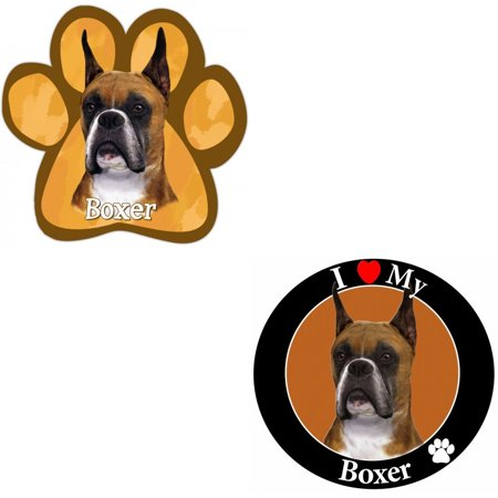 - Bundle: Two (2) Cropped Boxer Magnets