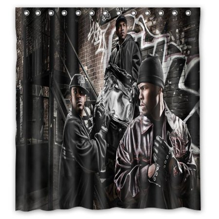DEYOU Gangsta Rap Rapper Hip Hop Unit Cent Shower Curtain Polyester Fabric Bathroom Size