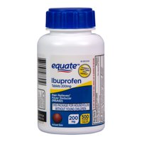 Equate Ibuprofen Tablets, 200 mg, Pain Reliever and Fever Reducer ,500 Count