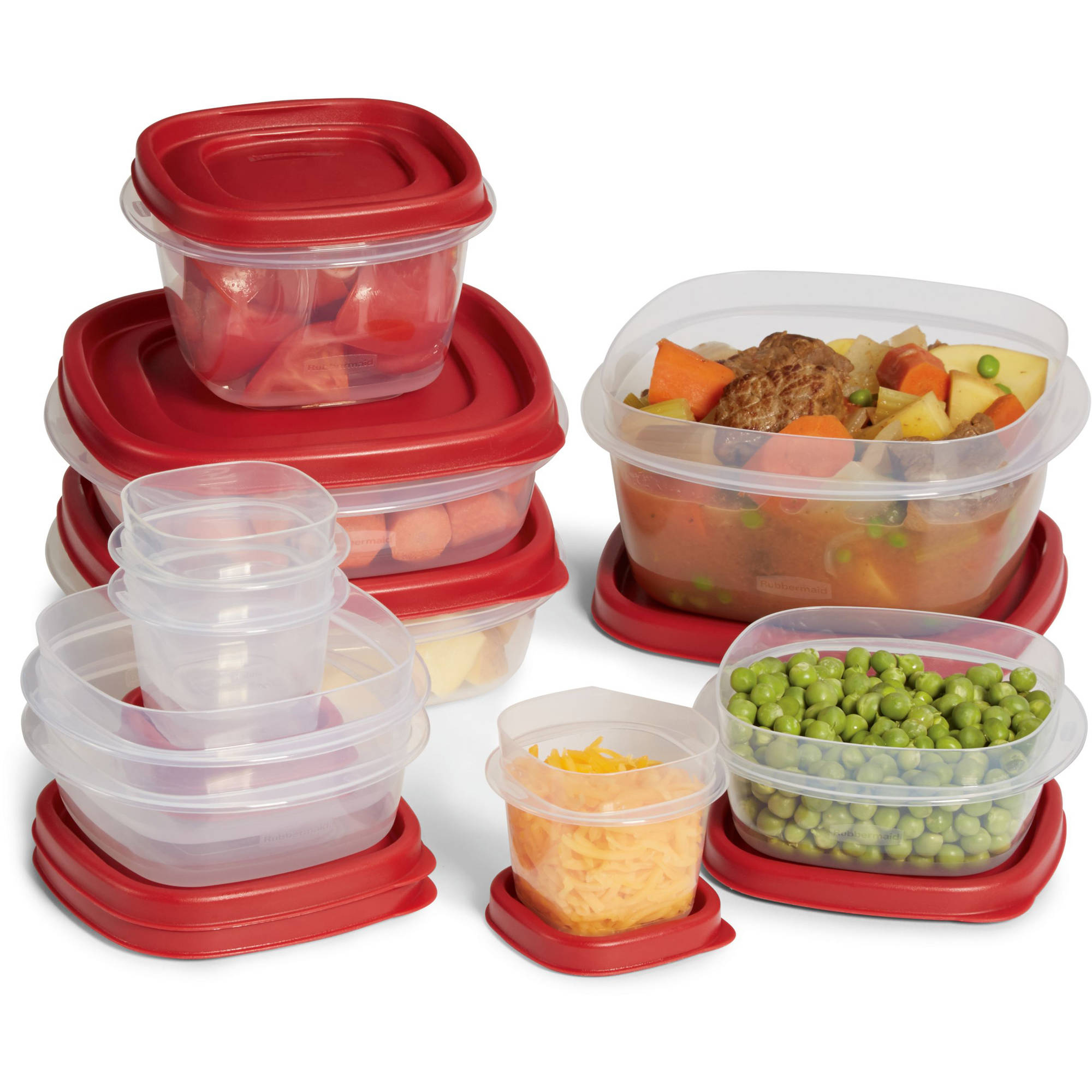 rubbermaid easy find lids food storage container set, 20-piece