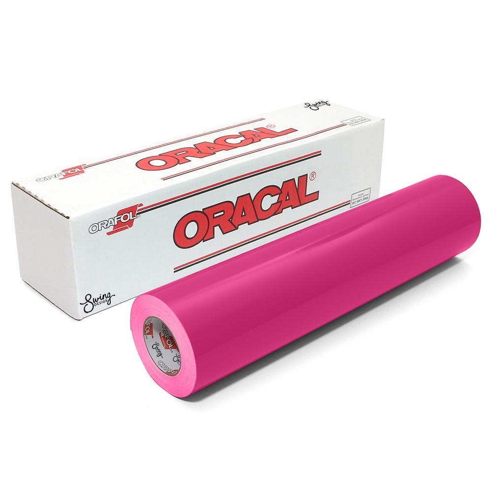 Oracal 651 Glossy Vinyl Rolls - Pink