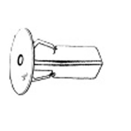 W & E Sales 3146 Screw Grommet no.12 Screw, 8 Mm Square Hole 20 Mm Head, 22 Mm Length Toyota, Package Of 15
