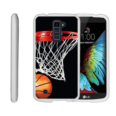 Miniturtle® [LG K10 Case, LG Premier LTE White Case][Snap Shell] 2 Piece White Design Case, Perfect Fit Hard Rubberized Cover - Basketball Swish