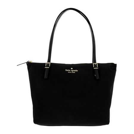 Kate Spade Watson Lane Maya Nylon Top-Handle Tote - Black (Kate Spade Black Cat)