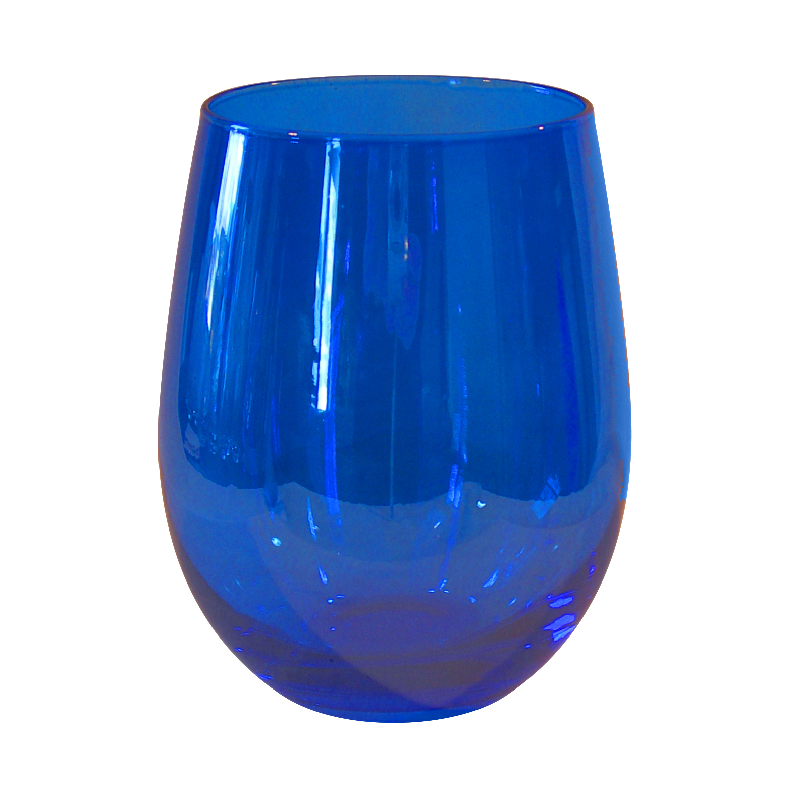 Artland Luster Blue Glass 16 Ounce Stemless Wine Glass