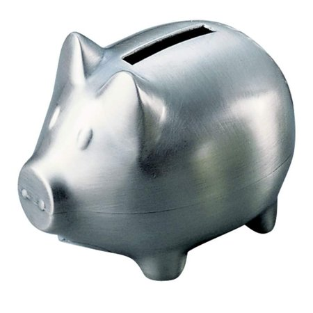 (D) Gifts for Men who Have Everything, Piggy Bank, Silver Pig (Matte) If you are looking for a memorable gift for a boss or friend - this piggy bank will help you. Not only will kids love this bank but it also makes a great corporate gift. The coin slot is located on the back of the piece. Manufactured in a non-tarnish, brushed pewter finish. Dimensions: 3  High x 2.75  Wide x 3.75  Long Use This Saving Bank In Your House To Store Loose Change And Keep Track Of Your Accrued Savings Fun Vintage Coin Bank With A Matte, Metallic Finish Makes It A Striking Decor Accent To Your Interior And A Gorgeous Piece To Showcase On Any Shelf, Desk, Or Coffee Table This Coin Bank for Boys has Stylish And Cute Vintage Design Makes A Great Gift For Birthdays And Special Theme Parties. Gift Boxed