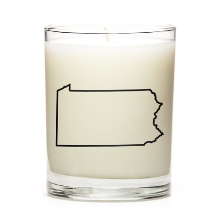 Custom Candles with the Map Outline Pensylvania, - Custom Candle