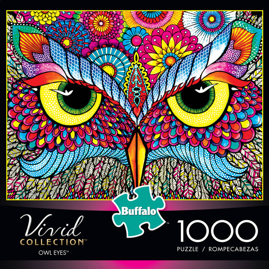 Buffalo Games Vivid Collection Owl Eyes 1,000 Piece Jigsaw Puzzle by Buffalo Games