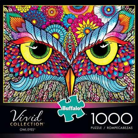 Buffalo Games Vivid Collection Owl Eyes 1 000 Piece Jigsaw Puzzle