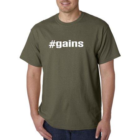 New Way - 748 - Unisex T-Shirt #gains Gains Gym Workout Success Goals 2XL  Military Green - Walmart com