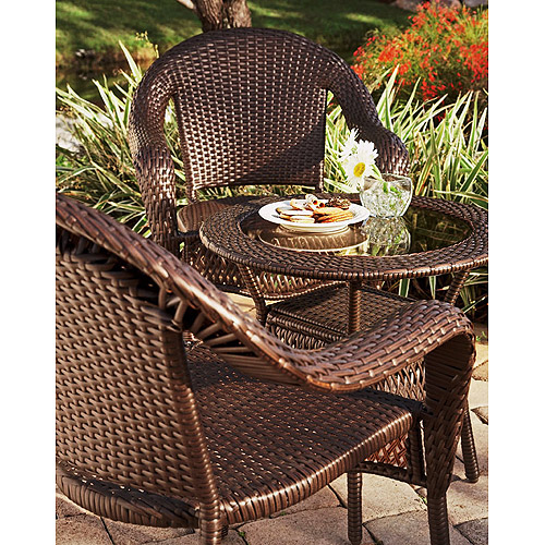 Elite 3-Piece Indoor Outdoor Resin Wicker Set by Resin Furniture