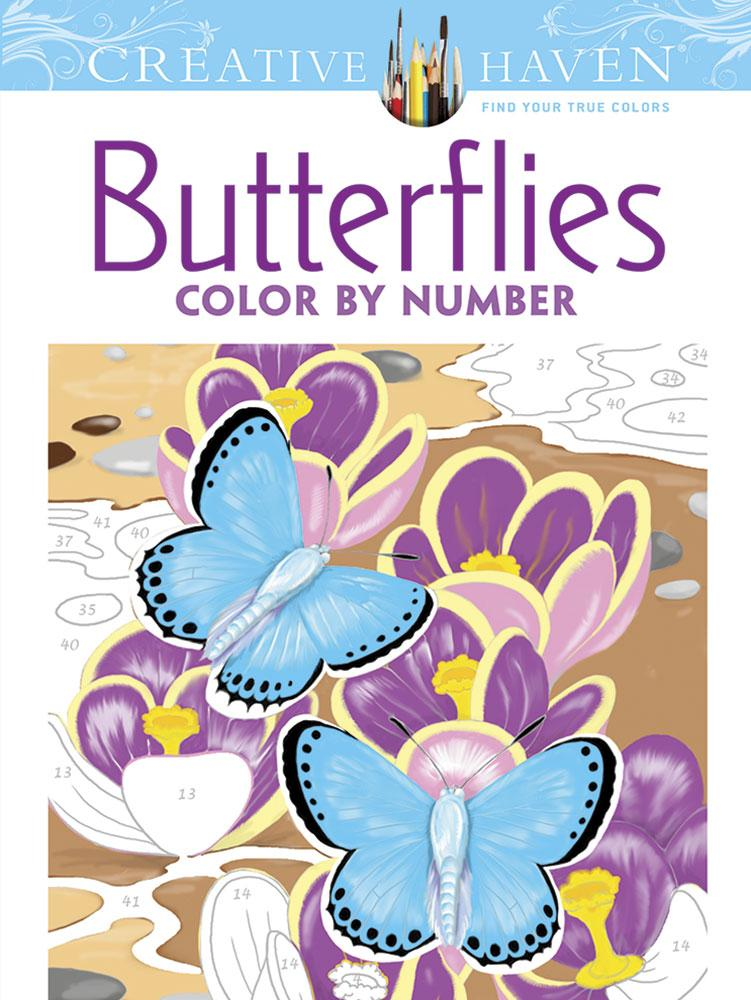 Creative Haven Coloring Books: Creative Haven Butterflies Color by ...