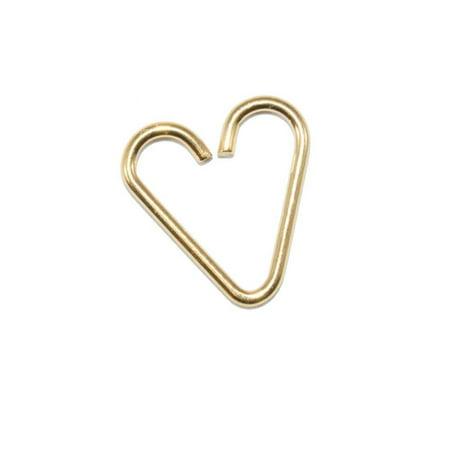 Heart Titanium Earrings - Annealed Gold Anodized Titanium 18ga Heart Cartilage Earrings