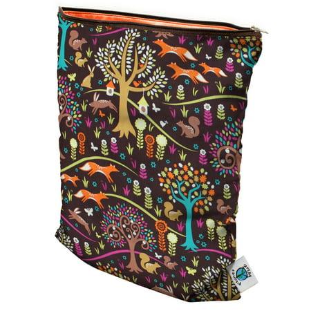 Planet Wise Medium Wet Bag, Jewel Woods (Planet Wise Wet Bag Orange)